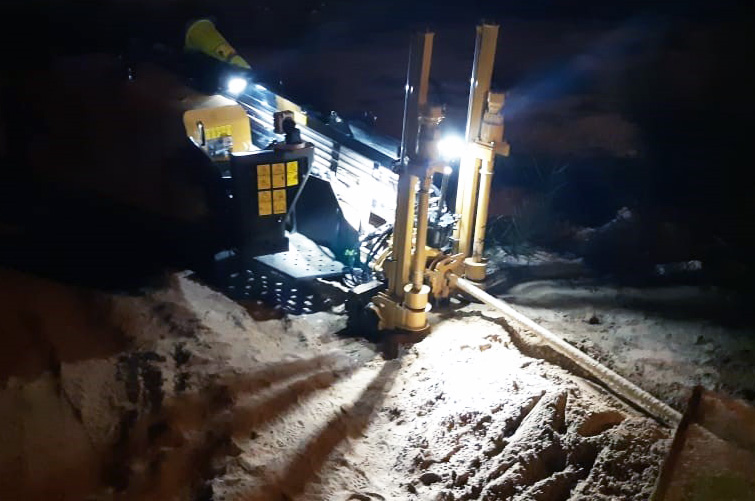 Night time directional pipeline drilling